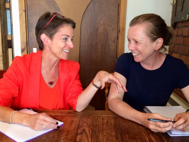 Liz Cross and Anna Maddox (on right) 20180625